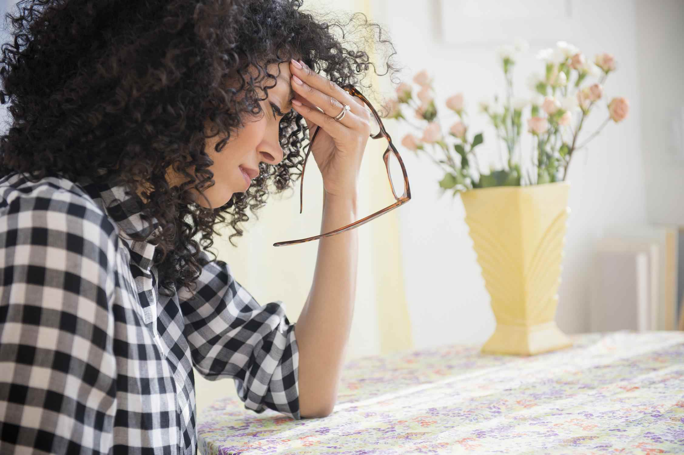 Ein Bild von einer Frau schmerzt