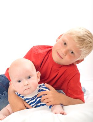Child with toddler brother