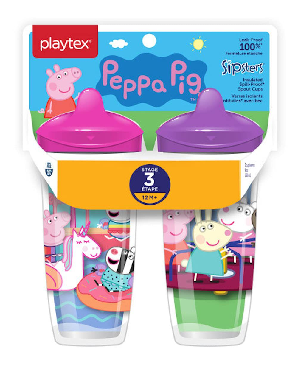 Playtex Sipsters Stage 3 Peppa Pig Insulated Sippy Cup