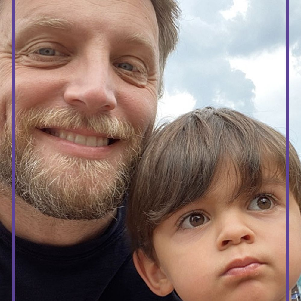 Ariel Foxman and his son