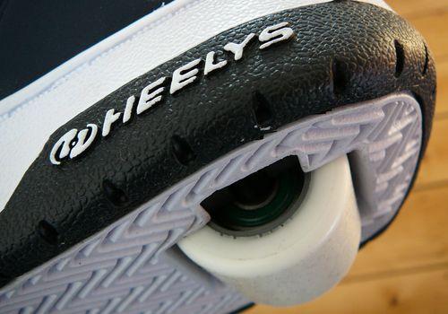 Close up of the heel a heelys shoe