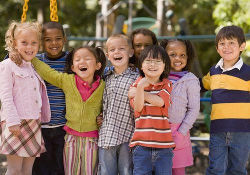 Children having fun with friends