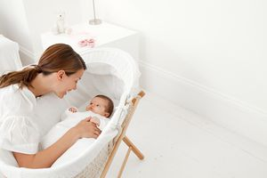Mom and Baby with Bassinet