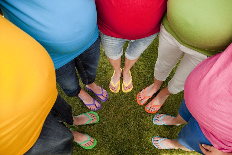 Rainbow of pregnant bellies, how life feels when you have pregnancy envy/jealousy