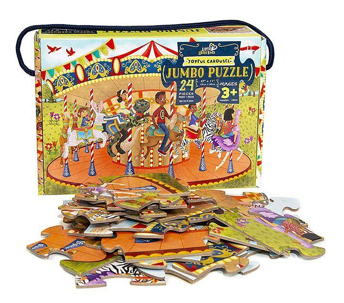 Little Likes Kids Joyful Carousel Jumbo Puzzle