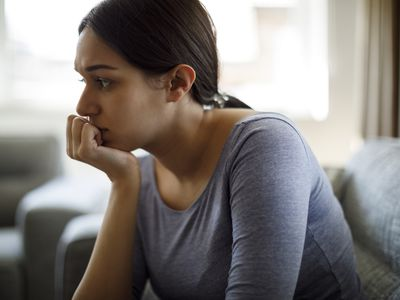 Pregnant woman feeling depressed