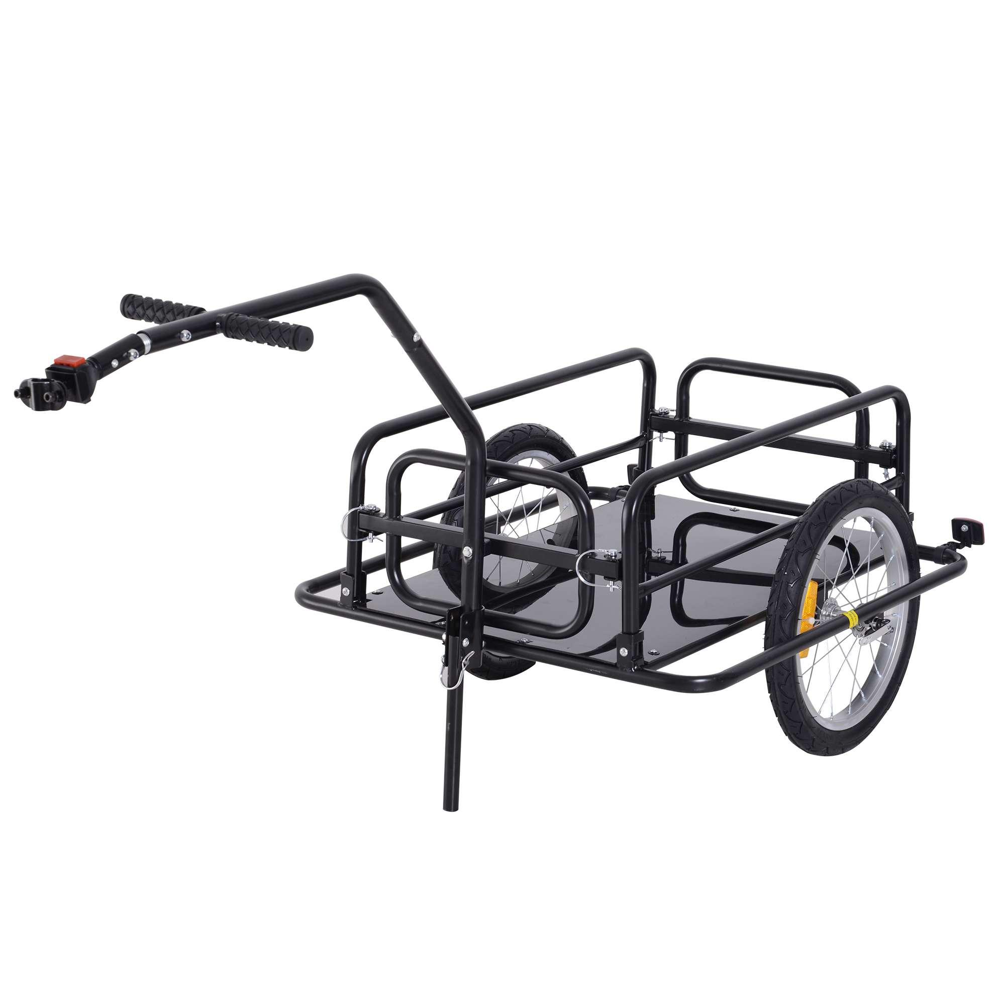 Aosom Folding Bike Cargo Trailer Cart