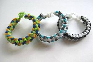 Rainbow Loom double-braid loop bracelets