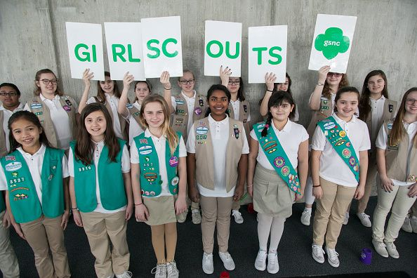 Girl Scouts At The Chocolate Expo