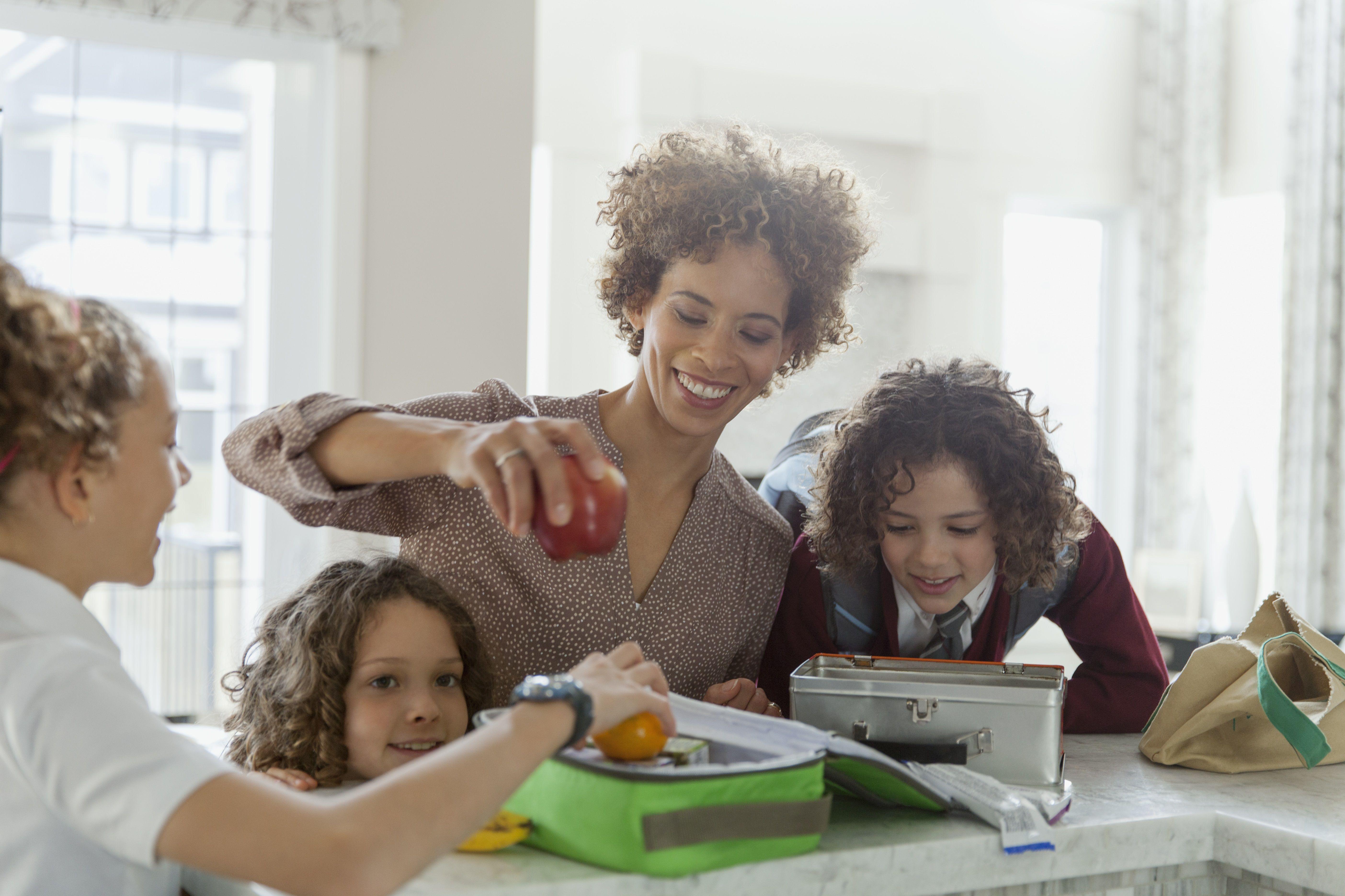 Mutter und Töchter Lunchbox Verpackung