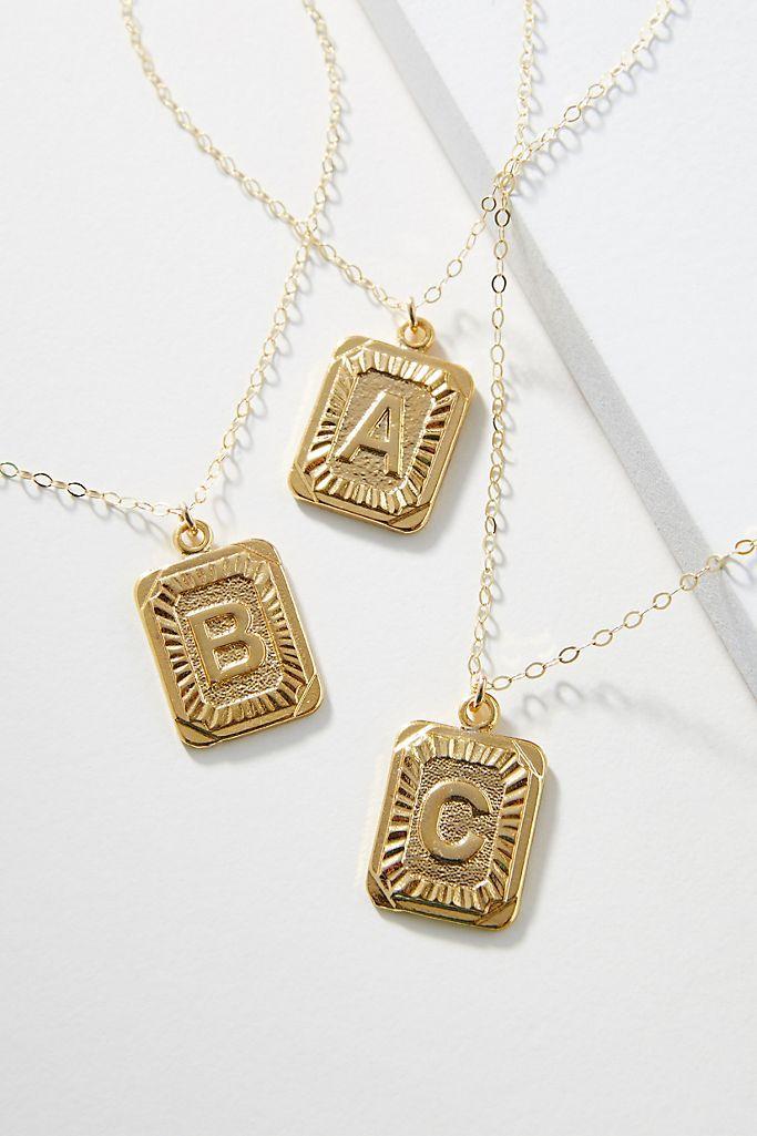 Whim Jewelry Monogram Pendant Necklace