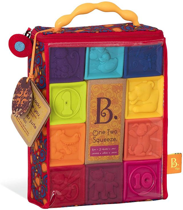 B. toys One Two Squeeze Baby Blocks