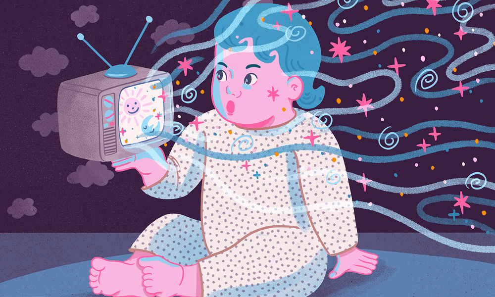 Baby television illustration