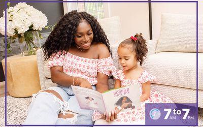 Nikki Osei-Barrett with her daughter