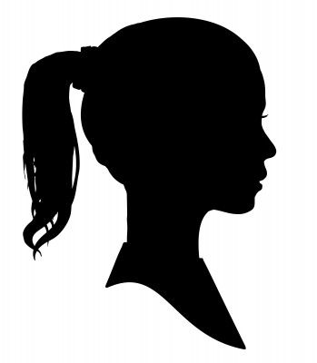 Girl's Silhouette Profile