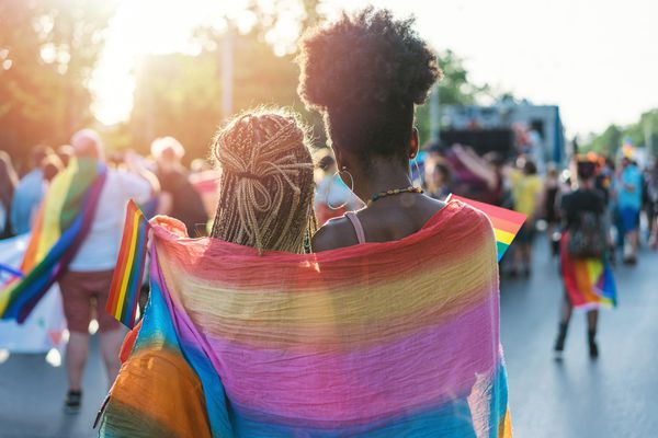 Two women at Pride