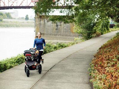 mom jogging