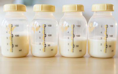 Breast milk in bottles
