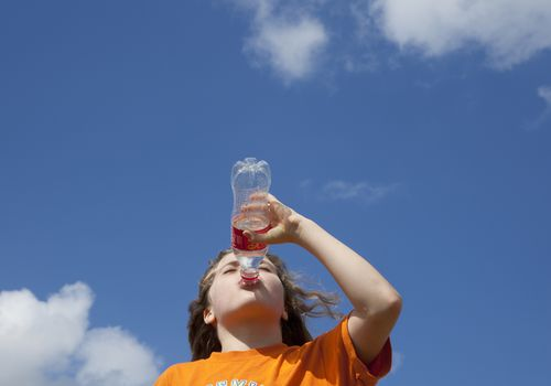 Kid drinking soda
