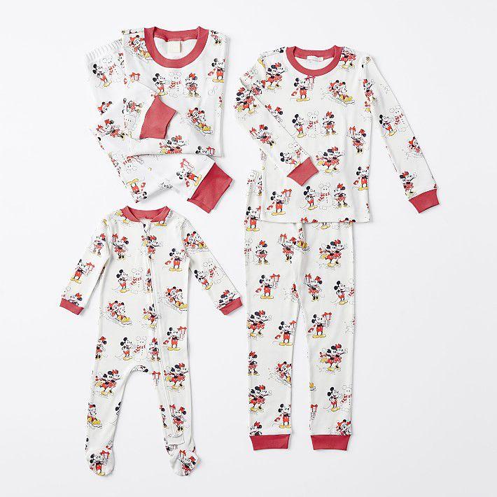 Pottery Barn Kids Mickey Mouse Holiday Family Pajamas