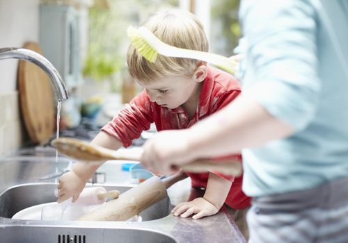 Start teaching your child to do chores at a young age.