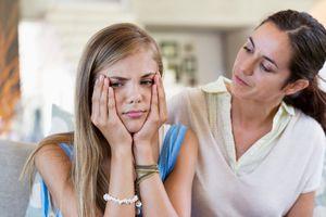Mom Talking With Teen Girl