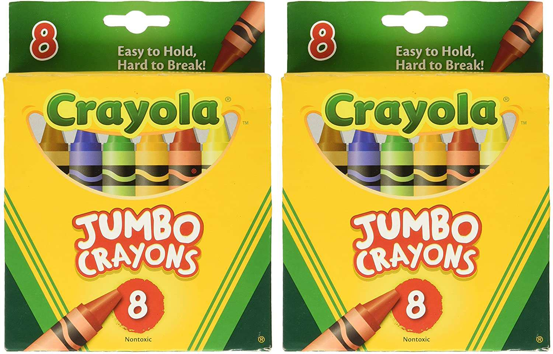 Crayola Crayons Jumbo 8ct Peggable Tuck Box