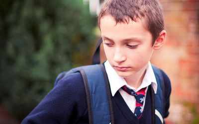 Private School Kid - Sad