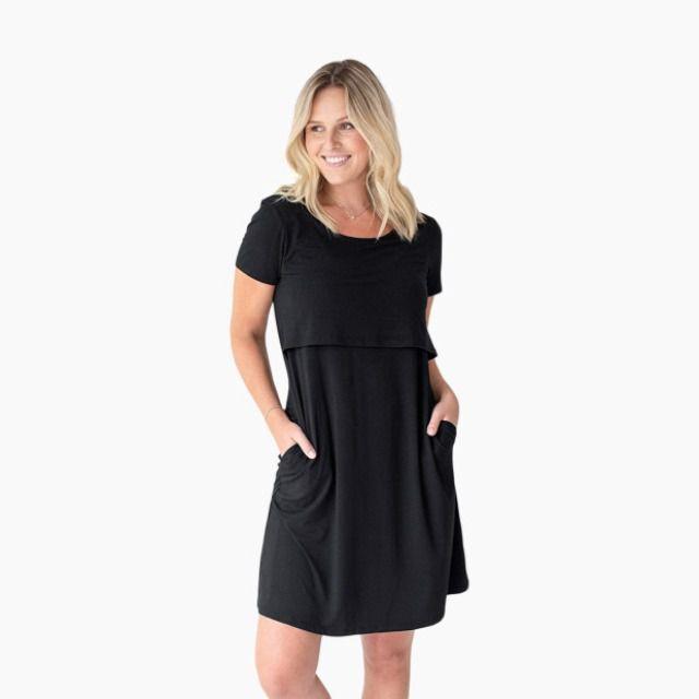 Eleanora Ultra Soft Bamboo Maternity And Nursing Lounge Dress