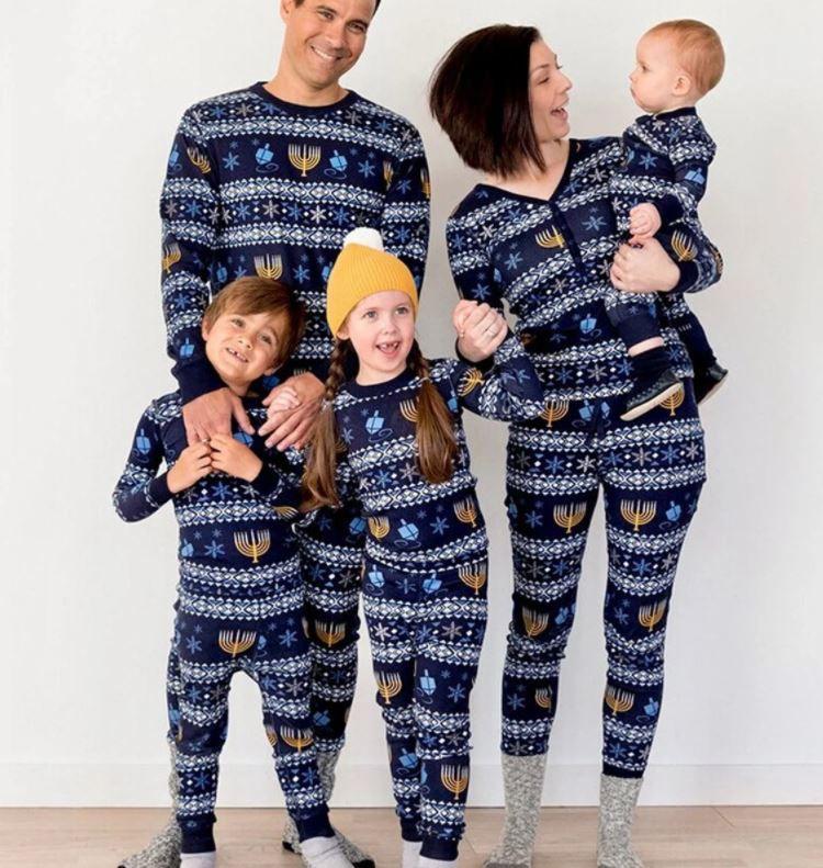 HeartfulEmbroidery Hanukkah Family PJs