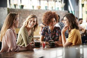 group of women having coffee