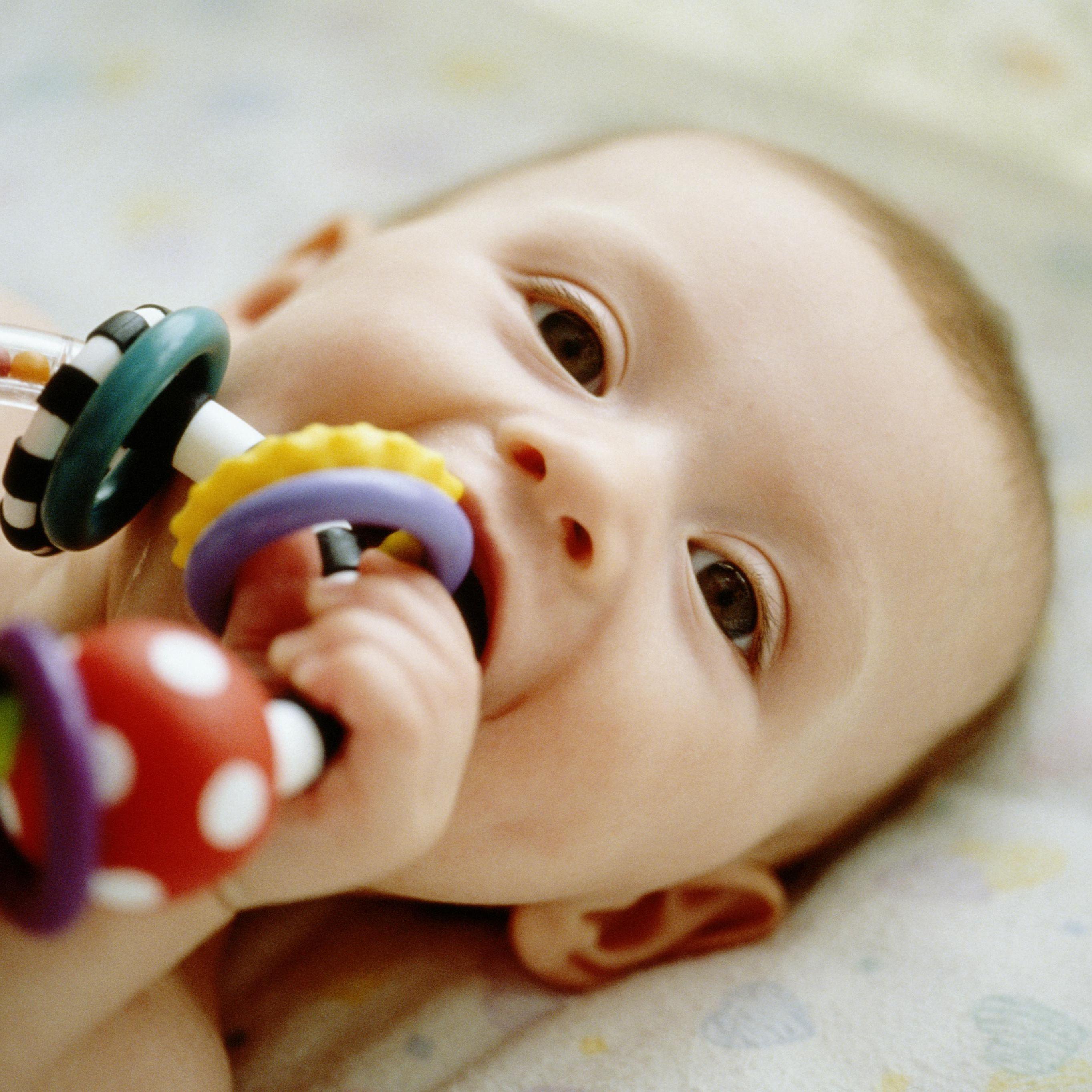 5 x Baby Kid Toddler Infant Newborn Cookie Teether Toy Gum Massager Chew Toy