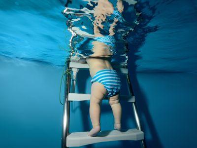 Baby in Swim Diaper