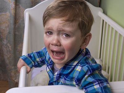 Sometimes toddlers hit themselves out of frustration.