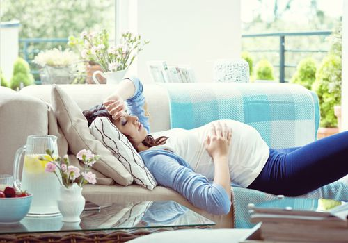 Pregnant woman resting