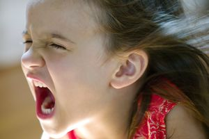 a young girl screaming