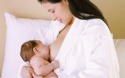 Woman breastfeeding a baby