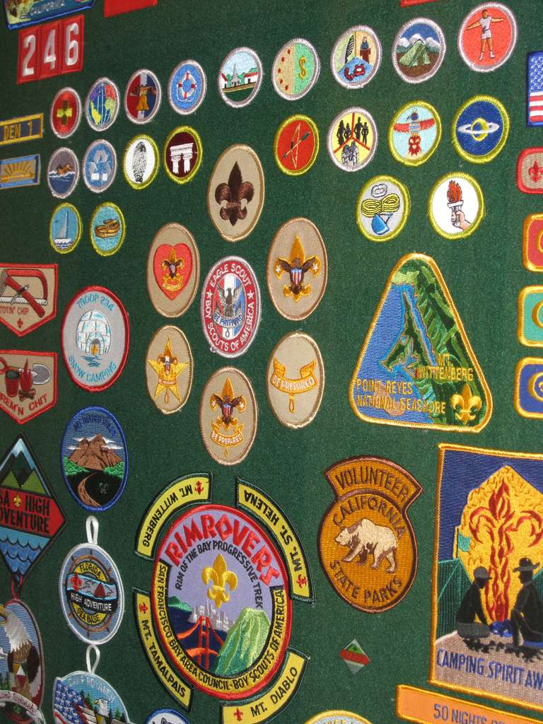 Arman Kingsland Shows Some Of The 138 Merit Badges He Has Earned In Orange On Friday January 19 2018 Less Than 270 People Have Acplished That Feat
