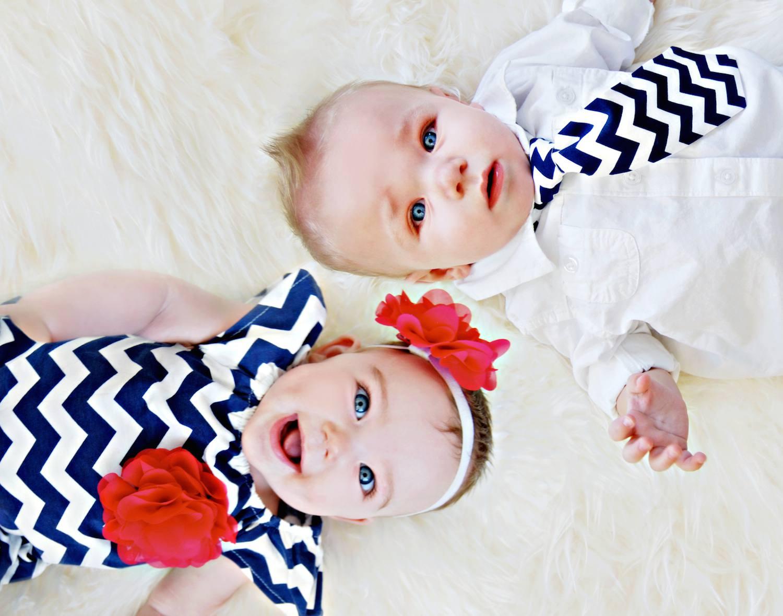 Boy and girl twins