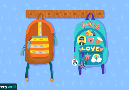 Illustration of two backpacks