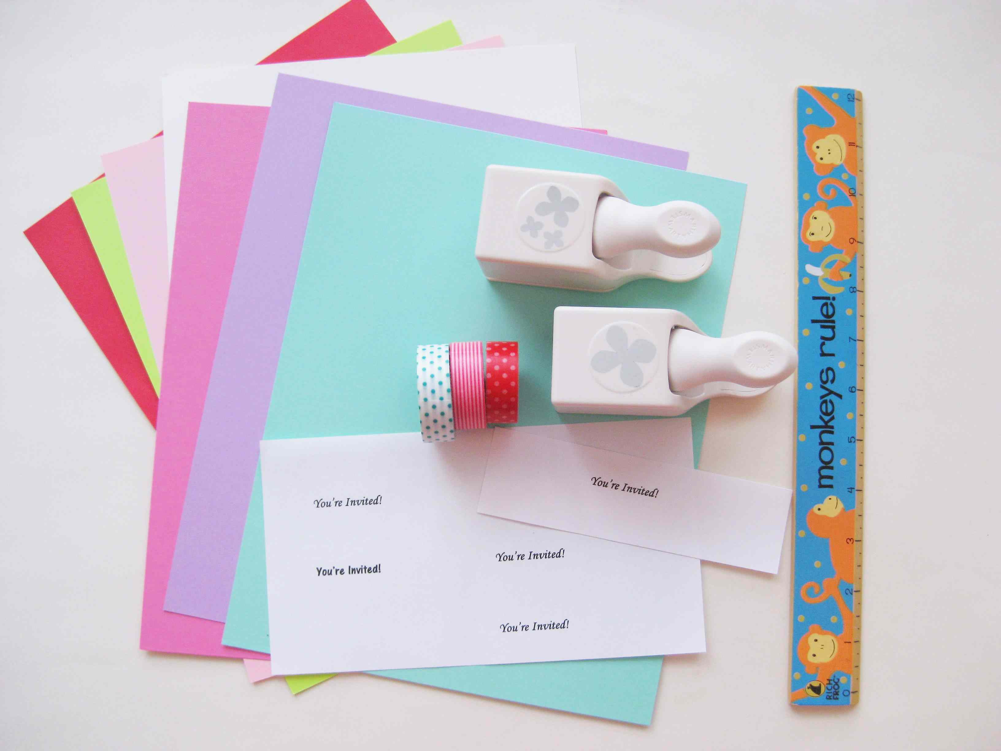 Assemble The Materials To Make Party Invitations