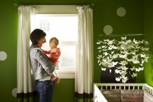 Mother and Baby in Nursery