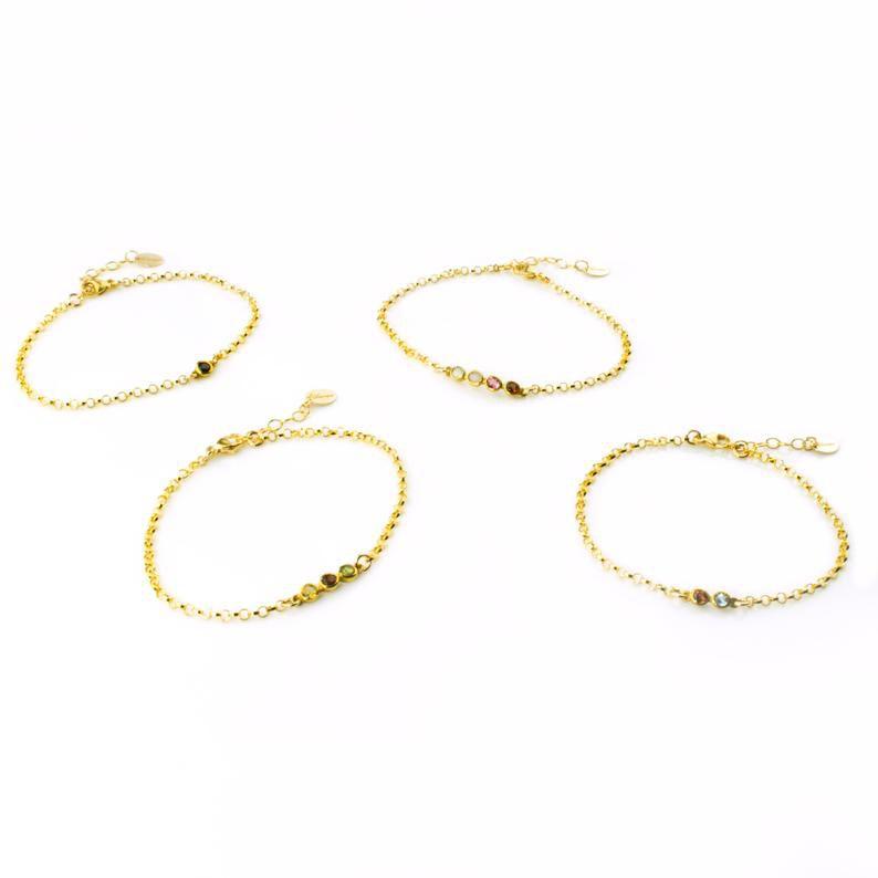 Etsy Birthstone Bracelet