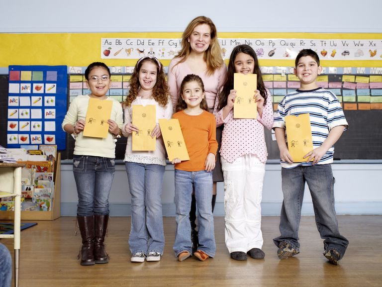 what report card comments mean - teacher with students