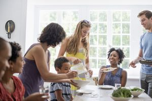 parents eating together at gathering