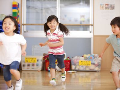 Kids playing at gym daycare