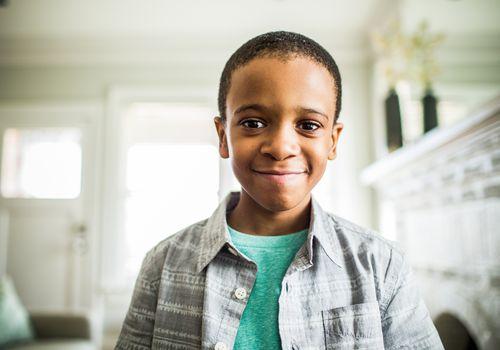 Portrait of eight year old boy
