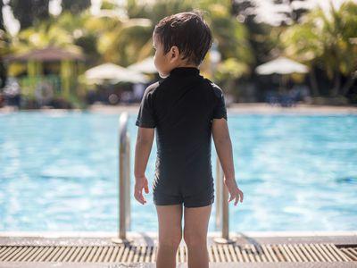 child at pool