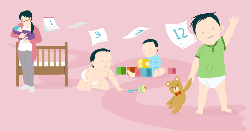 baby's first year growth and development milestones