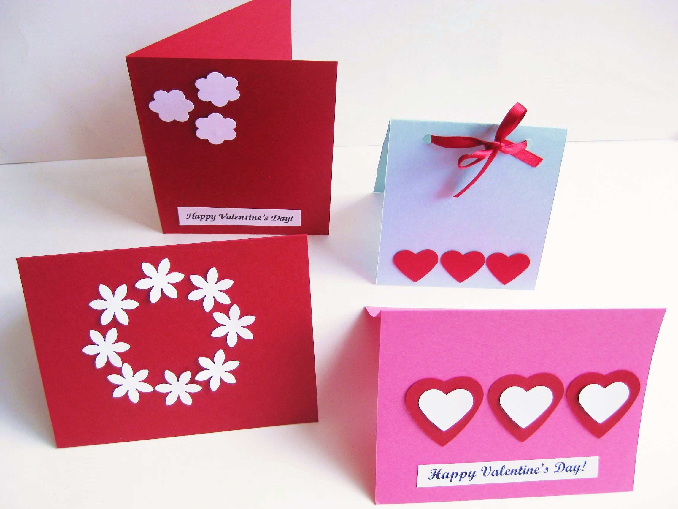 Homemade Valentine's Day paper cards